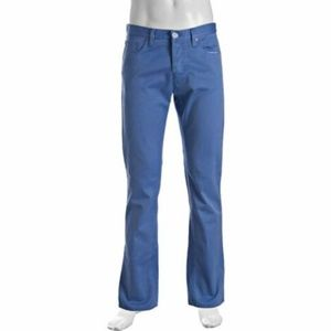 Gucci Blue Dyed Twill Straight Leg Pants NWT